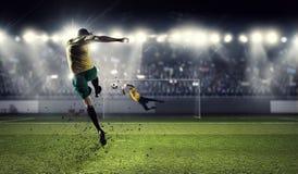 Горячие моменты футбола Стоковое Изображение RF