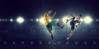 Горячие моменты футбола Стоковые Изображения