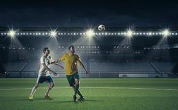 Горячие моменты футбола Стоковые Фотографии RF