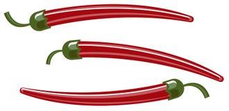 горячие перцы красные Стоковое фото RF