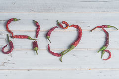 горячие перцы красные Стоковые Изображения