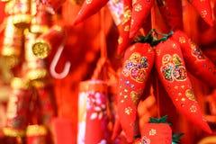 горячие перцы красные Стоковое Фото