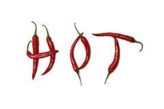 горячие перцы красные Стоковое Изображение RF