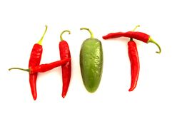 горячие перцы стоковые фото