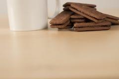 Горячие питье и печенья Стоковое фото RF