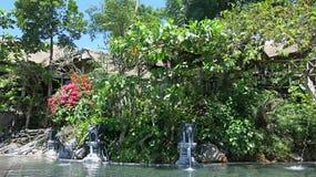 Горячие природные источники в горах на озере Batur стоковая фотография rf