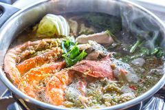 горячие продукты моря бака Стоковые Изображения RF