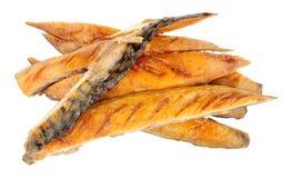 Горячие прокладки рыб копченой скумбрии Стоковое Фото
