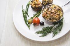 Горячие сваренные champignons Стоковое Фото
