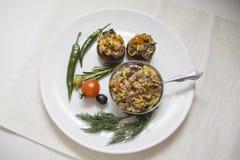 Горячие сваренные champignons Стоковые Изображения