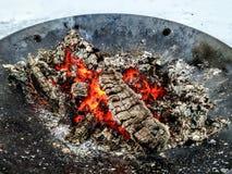 Горячие угли стоковые изображения rf