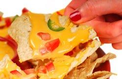 горячие nachos пряные Стоковая Фотография