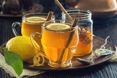 Горячие Toddies или чай специи лимона Стоковые Фотографии RF