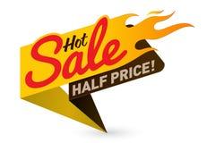 Горячий вектор дела предложения продажной цены обозначает стикеры шаблонов Стоковые Фото