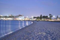 Горячий вечер лета на пляже Австралии Стоковая Фотография RF