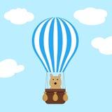 Горячий воздушный шар с печатью сердец Стоковое фото RF