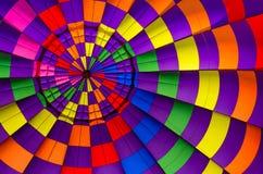 Горячий воздушный шар внутри предпосылки Стоковая Фотография