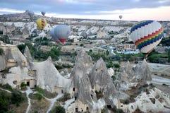 Горячий воздушный шар в индюке Стоковое Фото