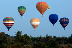 Горячий воздушный шар в фестивале 2009 воздушного шара Таиланда международном Стоковые Изображения RF