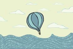 Горячий воздушный шар над se Стоковые Фото