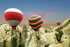 горячий воздушных шаров цветастый Стоковое Изображение RF