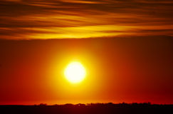 горячий восход солнца Стоковые Фото