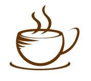 Горячий значок кофейной чашки Стоковые Изображения