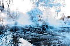 Горячий источник гейзера Стоковая Фотография