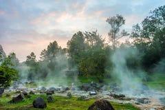 Горячий источник на национальном парке сына Chae Стоковые Изображения RF