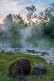 Горячий источник на национальном парке сына Chae Стоковое Изображение RF