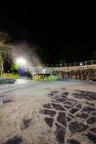Горячий источник Raksawarin в Ranong, Таиланде, nighttime Стоковые Фото