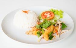 Горячий и кислый зажаренный салат рыб стоковое фото