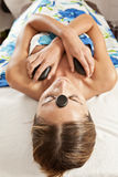 Горячий каменный массаж Стоковая Фотография