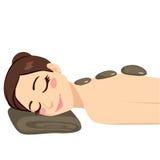 Горячий каменный массаж иллюстрация штока