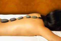 горячий камень массажа Стоковое Фото