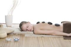 горячий камень массажа Стоковая Фотография