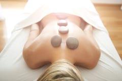 горячий камень массажа Стоковое Изображение