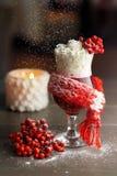 Горячий коктеиль rowanberry в снежностях Стоковые Изображения