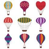 Горячий комплект значка воздушных шаров красочный бесплатная иллюстрация