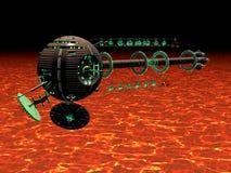 горячий космический корабль иллюстрация вектора