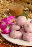 Горячий кофе и испеченные товары, конфета, Таиланд. Стоковые Фотографии RF
