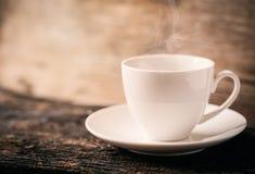 Горячий кофе, кофейная чашка эспрессо Стоковые Фотографии RF