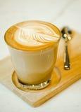 Горячий кофе Latte искусства Стоковые Изображения