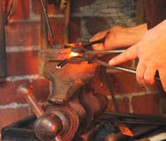 горячий красный цвет металла Стоковая Фотография RF
