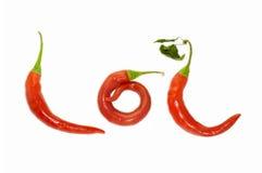 горячий красный цвет lol Стоковые Фотографии RF