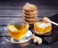 Горячий мед лимона имбиря стоковые изображения