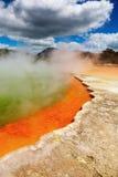 горячий новый восходящий поток теплого воздуха zealand весны Стоковое Изображение RF