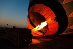 Горячий полет воздушного шара в Cappadocia, Турцию Стоковые Фото
