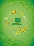 горячий предпосылки зеленый Стоковое Изображение