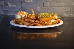 Горячий сандвич цыпленка Стоковая Фотография RF